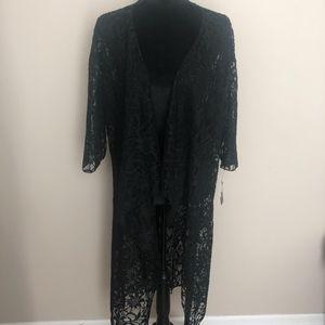 Black Lace Lularoe Shirley Kimono, NWT